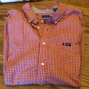 XXL chaps brand short sleeve button down shirt